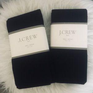 J. Crew Accessories - 2 pairs of J. Crew black tights